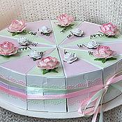 Подарки ручной работы. Ярмарка Мастеров - ручная работа Подарочный торт из бумаги. Handmade.