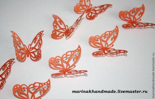 Интерьерные  маски ручной работы. Ярмарка Мастеров - ручная работа. Купить Декоративные бабочки. Handmade. Рыжий, декор для интерьера