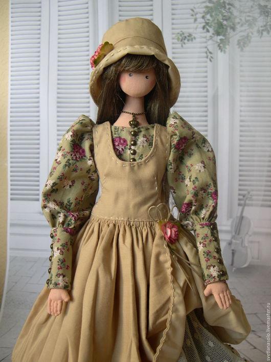 Коллекционные куклы ручной работы. Ярмарка Мастеров - ручная работа. Купить кукла в стиле Бохо Агата. Handmade. Бежевый, тряпиенс