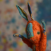 Куклы и игрушки ручной работы. Ярмарка Мастеров - ручная работа дикомятный заяц. Handmade.