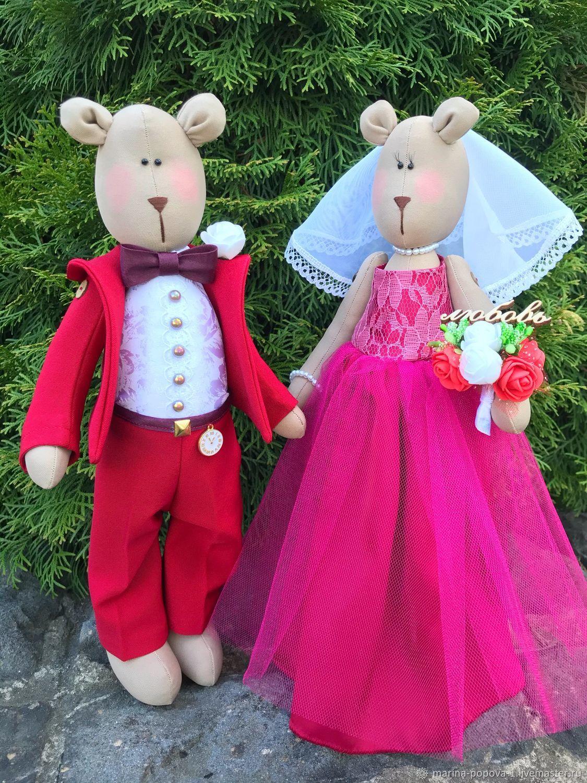 Подарок на свадьбу, годовщину, свадебные мишки и зайцы, Подарки, Киров,  Фото №1