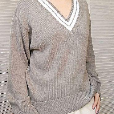 Одежда ручной работы. Ярмарка Мастеров - ручная работа Пуловер оверсайз из мериноса. Handmade.