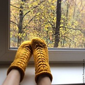 Аксессуары ручной работы. Ярмарка Мастеров - ручная работа Носки женские Осень. Handmade.