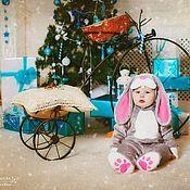 Работы для детей, ручной работы. Ярмарка Мастеров - ручная работа Карнавальный новогодний костюм Серого зайчика для малышей и детей. Handmade.
