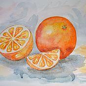 Картины и панно ручной работы. Ярмарка Мастеров - ручная работа Апельсины. Бронь для Ольги. Handmade.
