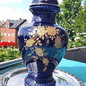 Винтаж ручной работы. Ярмарка Мастеров - ручная работа Большая фарфоровая ваза с крышкой. Handmade.