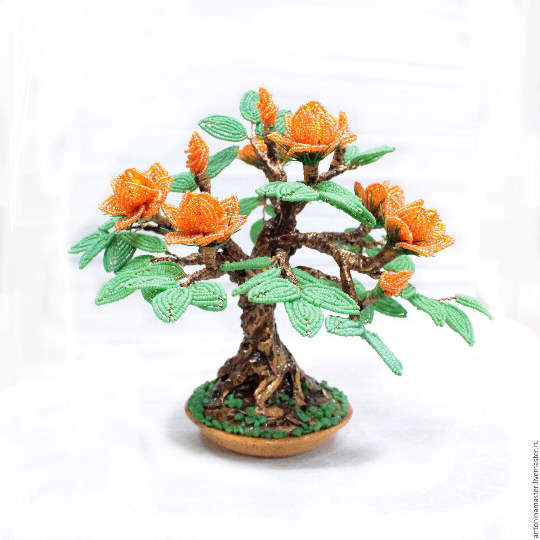 из бисера схемы мастер класс цветущий бонсай