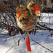 """Елочные игрушки ручной работы. Ярмарка Мастеров - ручная работа Шар """"Краски лета"""". Handmade."""