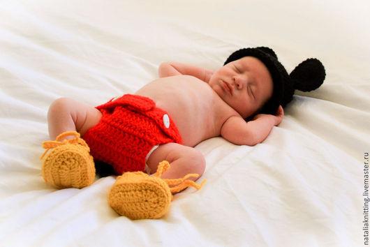 """Для новорожденных, ручной работы. Ярмарка Мастеров - ручная работа. Купить """"Микки Маус"""" для фотосессии. Handmade. Для фотосессии"""