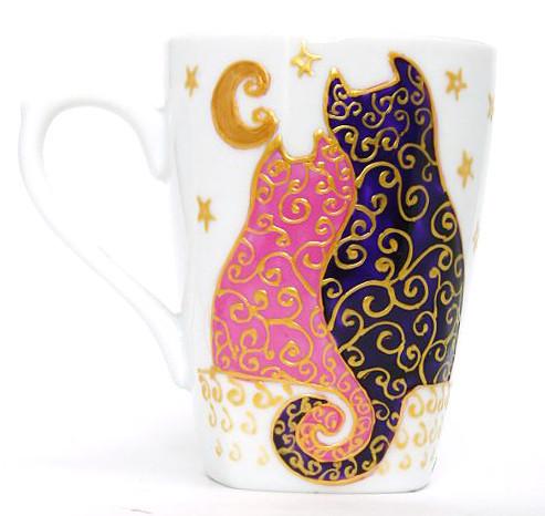 Подарки для влюбленных ручной работы. Ярмарка Мастеров - ручная работа. Купить Коты на крыше (0728). Handmade. Подарки для влюбленных, кошка