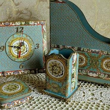 """Для дома и интерьера ручной работы. Ярмарка Мастеров - ручная работа """"Кассиопея"""" 4 предмета на стол руководителя. Handmade."""