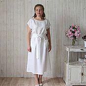 Одежда ручной работы. Ярмарка Мастеров - ручная работа Платье льняное удобное. Handmade.