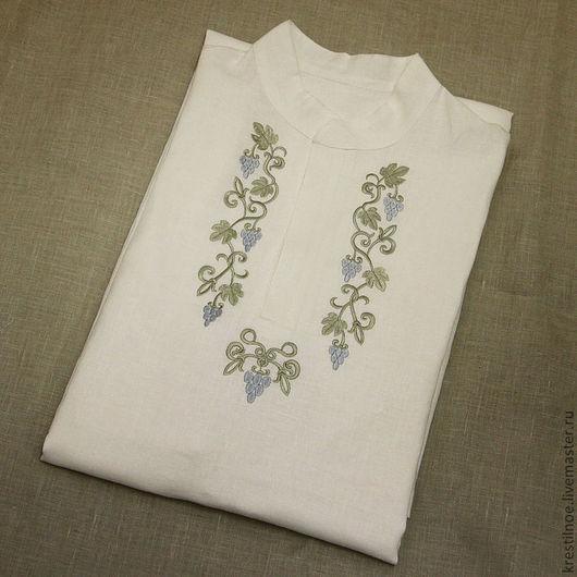 Для мужчин, ручной работы. Ярмарка Мастеров - ручная работа. Купить Мужская крестильная рубашка. Handmade. Крестильная рубашка
