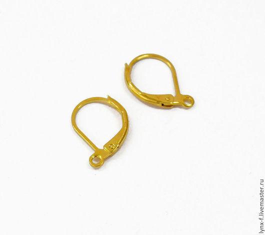 Для украшений ручной работы. Ярмарка Мастеров - ручная работа. Купить 3 пары Швензы с французским замком, золотистые. Handmade.