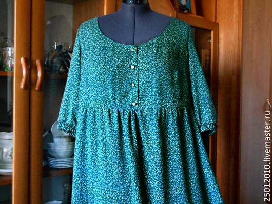 Платья ручной работы. Ярмарка Мастеров - ручная работа. Купить Платье зеленое  с завышенной талией.. Handmade. Зеленый, платье летнее