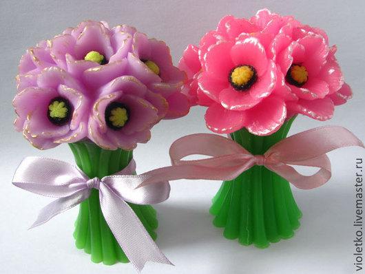 Мыло ручной работы. Ярмарка Мастеров - ручная работа. Купить Мыло Букет цветов на стебле. Handmade. Розовый, подарок женщине