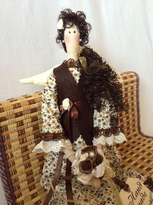 Куклы Тильды ручной работы. Ярмарка Мастеров - ручная работа. Купить Кофейная фея Бетти. Handmade. Интерьерная кукла, коричневый