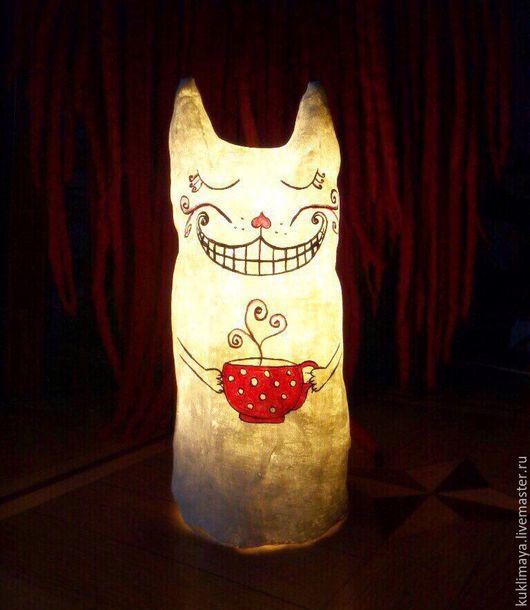 """Освещение ручной работы. Ярмарка Мастеров - ручная работа. Купить Светильник-ночник """"Чеширский кот"""". Handmade. Белый, подарок ребенку"""