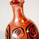 """Вазы ручной работы. Бутылочки """"Этно"""". IOka Ceramica (Юка-Керамика). Ярмарка Мастеров. Ваза, для интерьера, красная глина"""