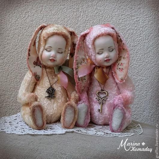 Коллекционные куклы ручной работы. Ярмарка Мастеров - ручная работа. Купить Тедди-долл зайки. Handmade. Тедди-долл