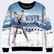 """Одежда ручной работы. Ярмарка Мастеров - ручная работа Свитшот """"Winter Adventure"""". Handmade."""