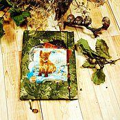 """Канцелярские товары ручной работы. Ярмарка Мастеров - ручная работа Блокнот """"Лисичкин лес"""". Handmade."""