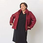 Одежда handmade. Livemaster - original item Quilted short jacket Burgundy. Art. 1418. Handmade.