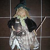 Куклы и игрушки ручной работы. Ярмарка Мастеров - ручная работа Кукла Колдунья с Котом. Handmade.