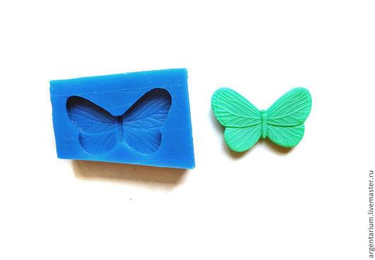 Для украшений ручной работы. Ярмарка Мастеров - ручная работа. Купить Бабочка силиконовый молд. Handmade. Тёмно-синий