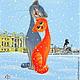 Елена Романова. Серия `Кошарики` Картинка № к-110. `Снежность`
