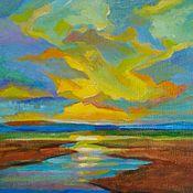 Картины и панно handmade. Livemaster - original item Painting the sky with bright strokes. Handmade.