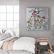Картины и панно handmade. Livemaster - original item Painting with delicate roses dusty shades of pink blue buy. Handmade.