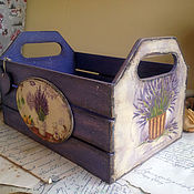 Для дома и интерьера ручной работы. Ярмарка Мастеров - ручная работа Любимый Прованс. Ящик для хранения. Handmade.