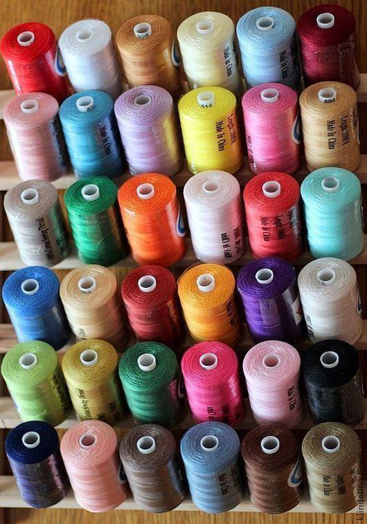 Вышивка ручной работы. Ярмарка Мастеров - ручная работа. Купить Набор ниток для вышивки (хлопок 100%) 36 цветов. Handmade.