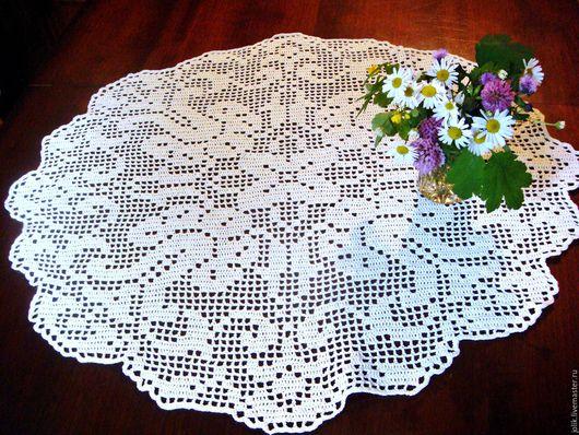 Текстиль, ковры ручной работы. Ярмарка Мастеров - ручная работа. Купить Маленькая скатерть или большая салфетка. Handmade. Кремовый