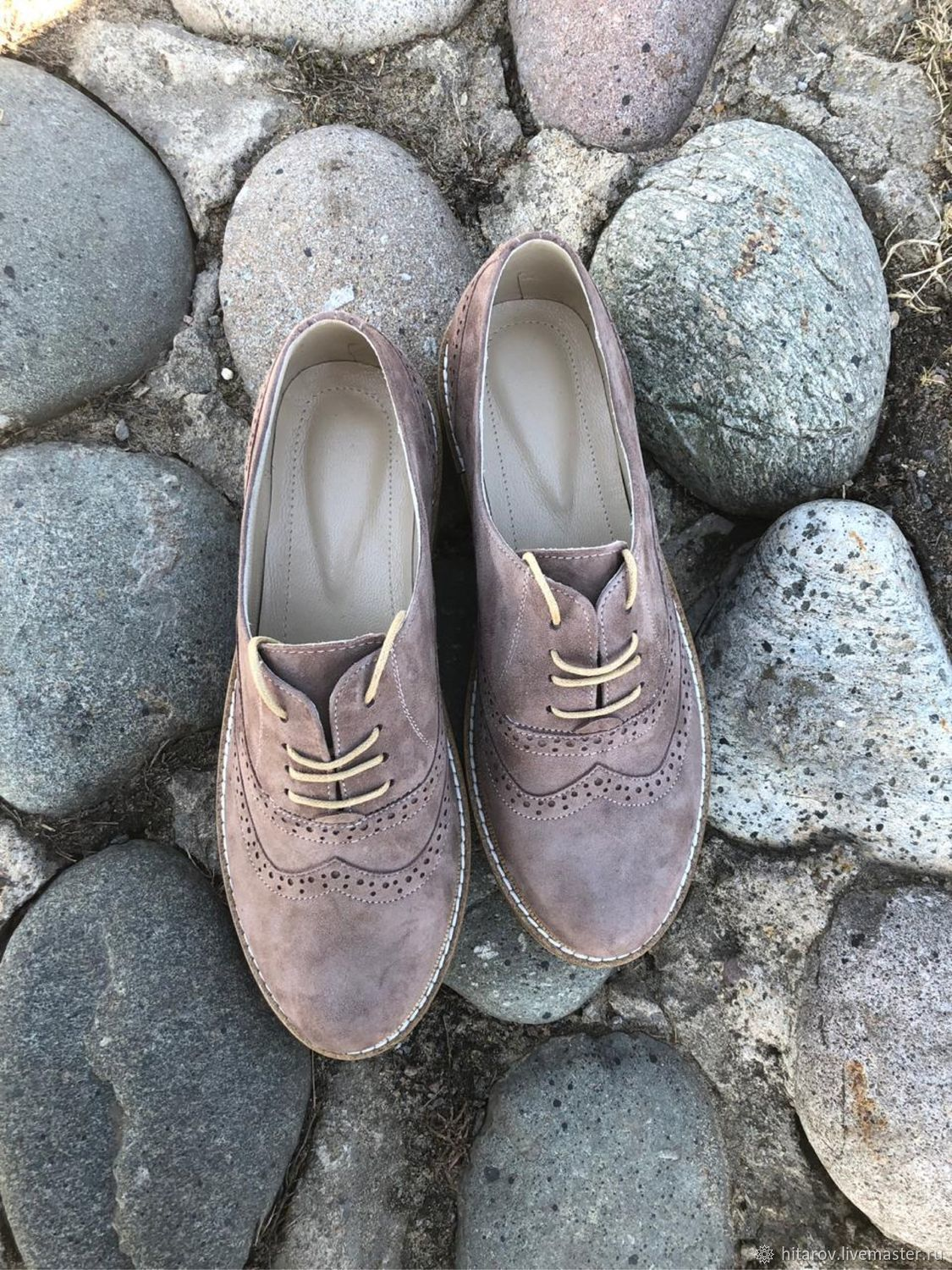 Oxford shoes grey suede, Oxfords, Moscow,  Фото №1
