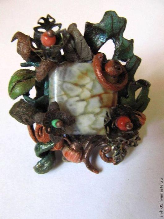 """Кольца ручной работы. Ярмарка Мастеров - ручная работа. Купить Кольцо """"Разнотравье"""". Handmade. Кольцо из кожи, оригинальные кольца"""