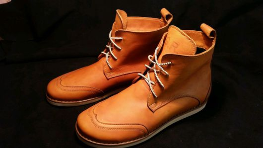 Обувь ручной работы. Ярмарка Мастеров - ручная работа. Купить Ботинки. Handmade. Коричневый, натуральная кожа
