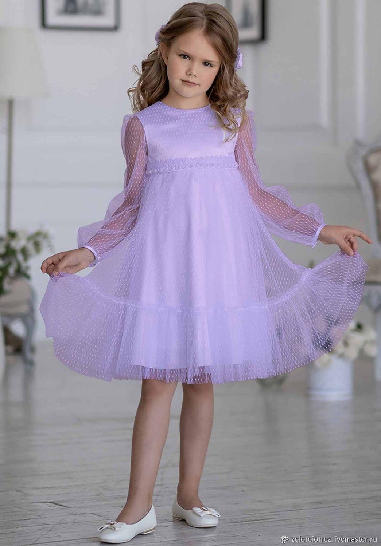 Нарядное Платье Для Девочки А Силуэта