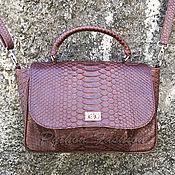 Сумки и аксессуары handmade. Livemaster - original item Handbag made of Python SOCHI. Handmade.