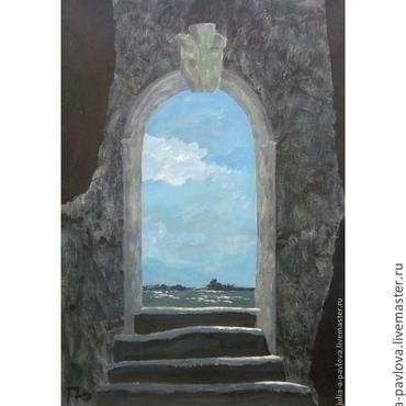 """Картины и панно ручной работы. Ярмарка Мастеров - ручная работа """"Туда"""" картина для интерьера стиля символизм. Handmade."""