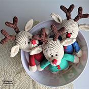 Куклы и игрушки ручной работы. Ярмарка Мастеров - ручная работа Оленята вязаные.. Handmade.