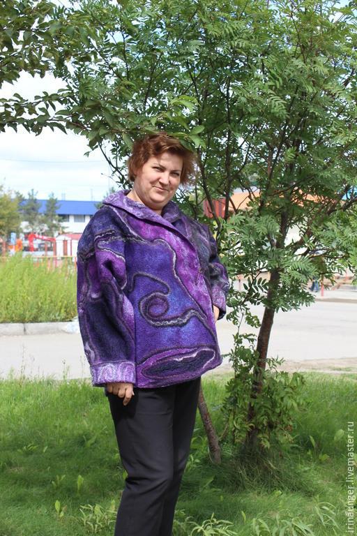 """Большие размеры ручной работы. Ярмарка Мастеров - ручная работа. Купить Куртка валяная """"Цефеида"""". Handmade. Разноцветный, пальто из шерсти"""