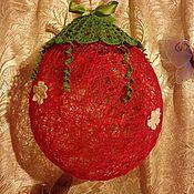 Для дома и интерьера ручной работы. Ярмарка Мастеров - ручная работа Шар из ниток Клубничка. Handmade.