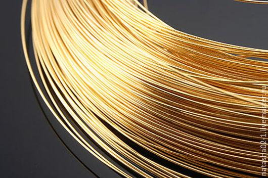 Для украшений ручной работы. Ярмарка Мастеров - ручная работа. Купить 2 метра - Проволока 0.3 мм  gold plated  Южная Корея. Handmade.