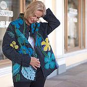 """Одежда ручной работы. Ярмарка Мастеров - ручная работа Валяный жакет  """" Северные цветы """". Handmade."""