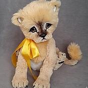 Куклы и игрушки ручной работы. Ярмарка Мастеров - ручная работа львенок Малыш. Handmade.