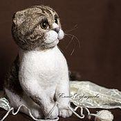 """Куклы и игрушки ручной работы. Ярмарка Мастеров - ручная работа Войлочная кошка """"Маркиза"""". Handmade."""