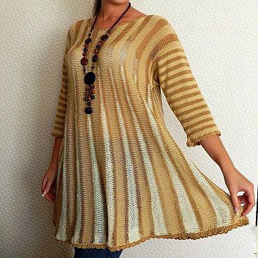 Одежда ручной работы. Ярмарка Мастеров - ручная работа Платье-туника вязаное ручная работа. Handmade.