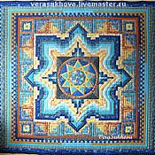 """Для дома и интерьера ручной работы. Ярмарка Мастеров - ручная работа ...Лоскутное одеяло """"Звезда Инглии"""". Handmade."""